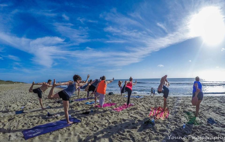 Kill Devil Hills Beach Yoga / Michelle Dorer