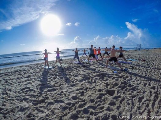 Outer Banks Beach Yoga / Michelle Dorer